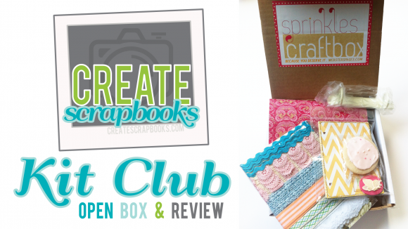 review of websters pages scrapbooking supplies sprinkles box