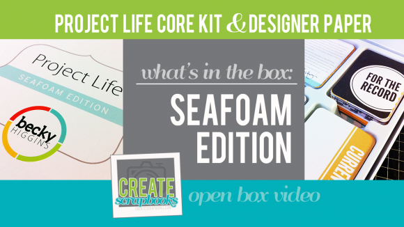 Project Life Seafoam Scrapbooking Core Kit & Designer Paper Pack by Becky Higgins