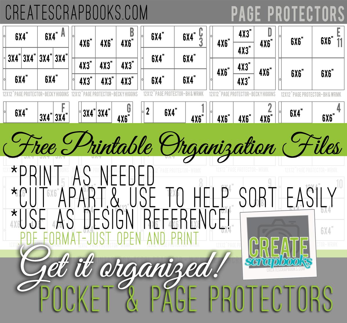 Create Scrapbooks Get It Organized Free 12x12 And Variety Pocket