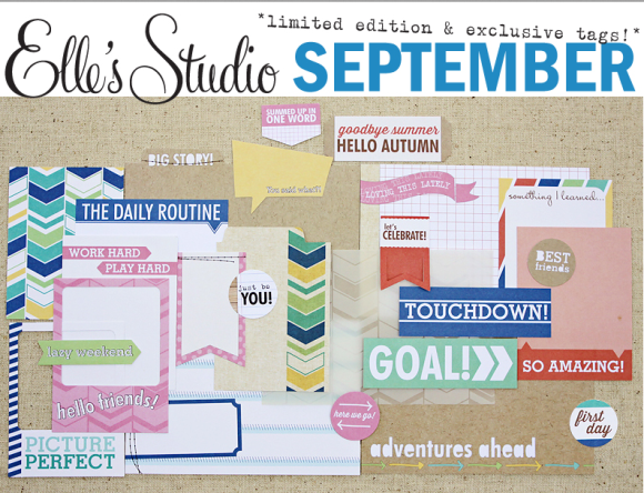 ShopEllesStudio.com September 2013 Project Life Scrapbook Kit featured at CreateScrapbooks.com