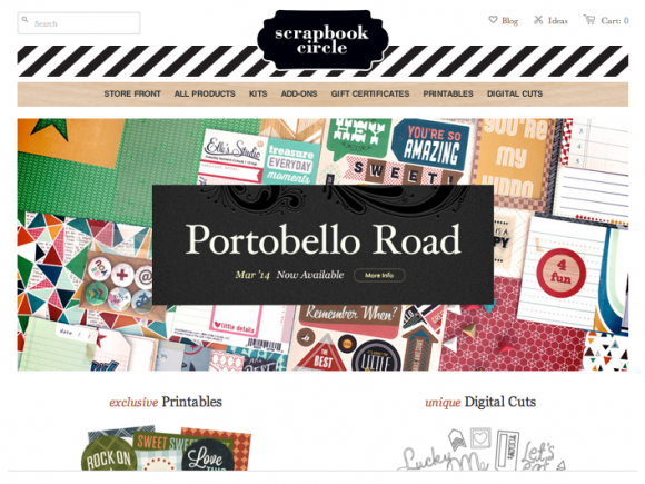 ScrapbookCircle.com March 2014 Portobello Road Kit Video #scrapbookcircle #scrapbook #kits
