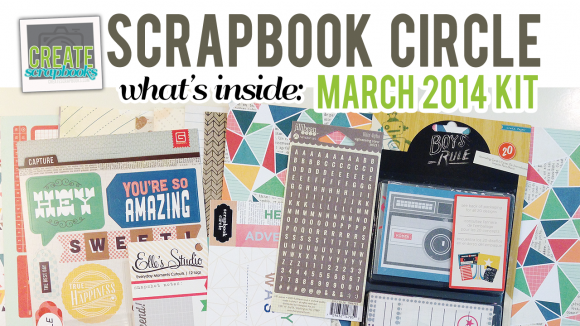 http://youtu.be/XcBx_Hv7UTA Create Scrapbooks What's Inside Video: ScrapbookCircle.com March 2014 Portobello Road Kit