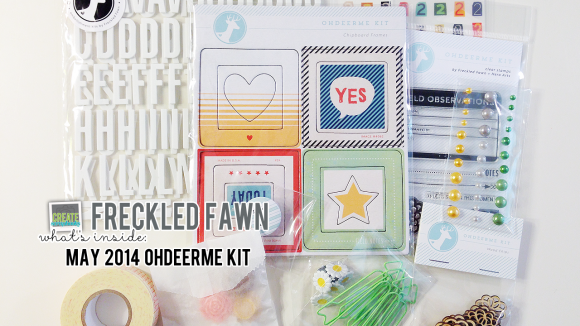 FreckledFawn.com: OHDEERME MAY 2014 Embellishment Kit - Featuring Freckled Fawn Exclusives & Hero Arts Stamps