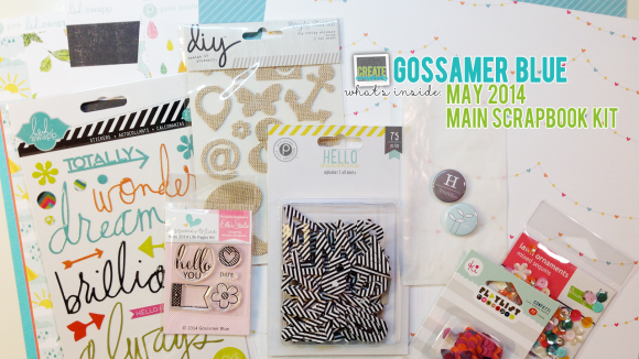 GossamerBlue.com: MAY 2014 Scrapbooking Kit Release Featuring Exclusive Paper, Stamps, Print and Cut Files