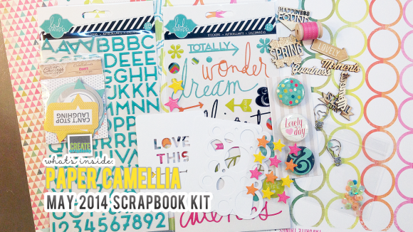 Create Scrapbooks What's Inside Video: PaperCamellia.com MAY 2014 Scrapbook Kit Release