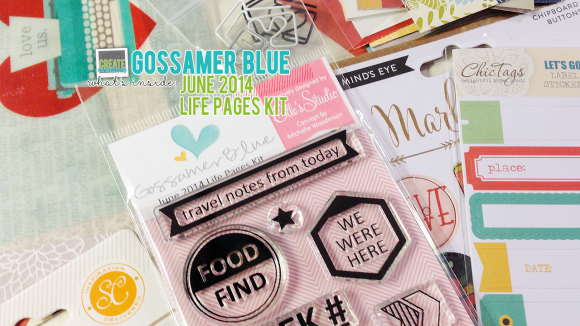 GossamerBlue.com: JUNE 2014 Life Pages (Pocket Page or Project Life style) Scrapbooking Kit Release Featuring Exclusive Stamps, Cards, Print and Cut Files
