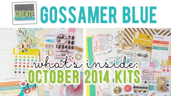 http://youtu.be/i5JhtMQB0o0 - OCTOBER 2014 - Create Scrapbooks What's Inside Video featuring Gossamer Blue Scrapbook Kits