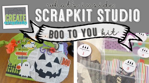 """http://youtu.be/vYPA8JzBei0 Create Scrapbooks What's Inside  VIDEO: ScrapKit Studio - BOO TO YOU - Halloween Themed 6x9"""" Complete Album Kit featured at scrapclubs.com"""