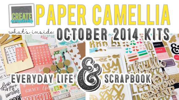 http://youtu.be/YkCroz79qUA Create Scrapbooks What's Inside Video: PaperCamellia.com OCTOBER 2014 Scrapbook Kit & NEW Everyday Life (pocket page style) Kit Release featured at scrapclubs.com