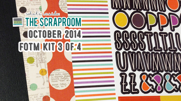 FOTM Kit #3 Scrap-Room.com OCTOBER 2014 - Create Scrapbooks What's Inside Video featuring THE SCRAPROOM Scrapbook Kits + Project Life Kit + Add-Ons