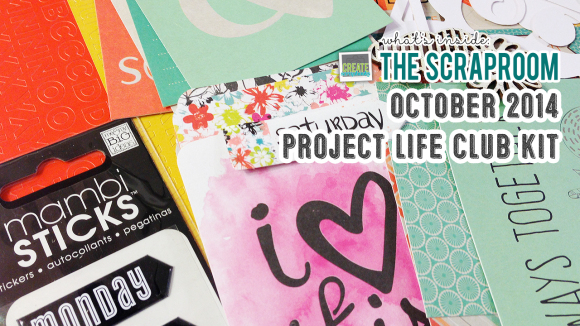 Project Life Kit Scrap-Room.com OCTOBER 2014 - Create Scrapbooks What's Inside Video featuring THE SCRAPROOM Scrapbook Kits + Project Life Kit + Add-Ons